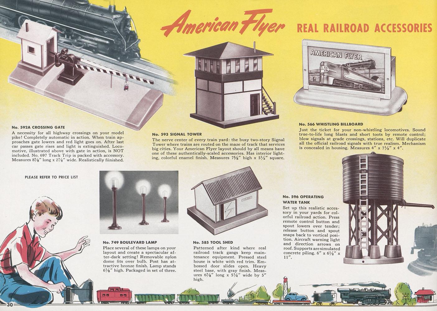 conrad-antiquario Katalogarchiv American Flyer 1952 on