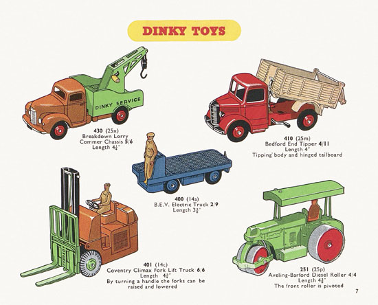 Dinky Toys catalogue 1954
