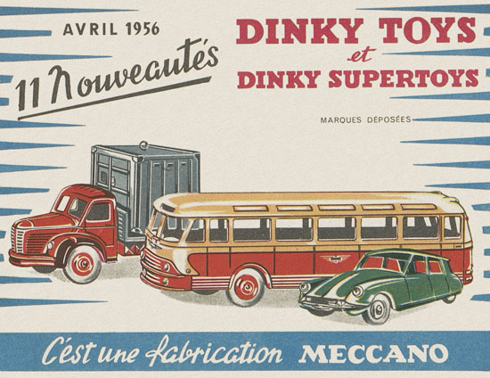 Dinky Toys catalogue Avril 1956