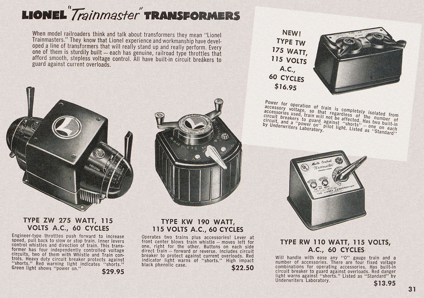 Conrad Antiquario Katalogarchiv Lionel Consumer Pocket Catalog 1953 Rw Transformer Wiring Diagram Aus Dem Jahr