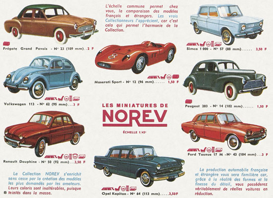 Norev catalogue 1964