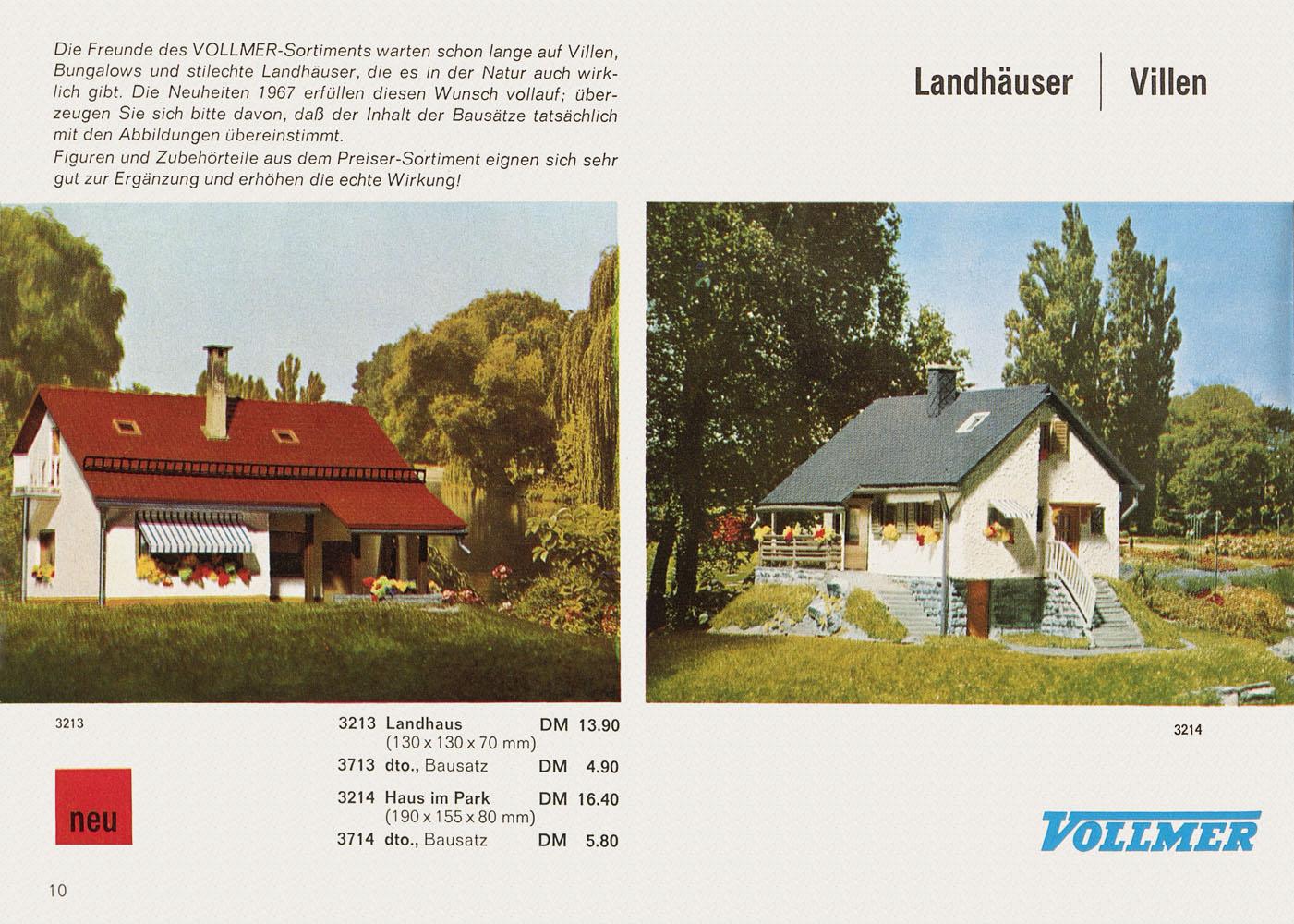 VOLLMER  KATALOG 1967 1968   å *
